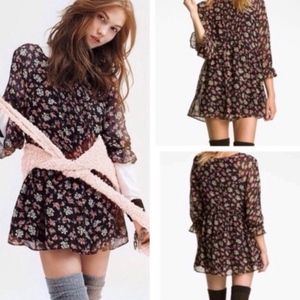 Free People baby doll floral tunic/ mini d…